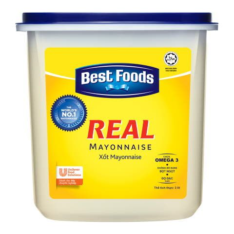 Xốt Mayonnaise Best Foods Real - 4 x 3 L